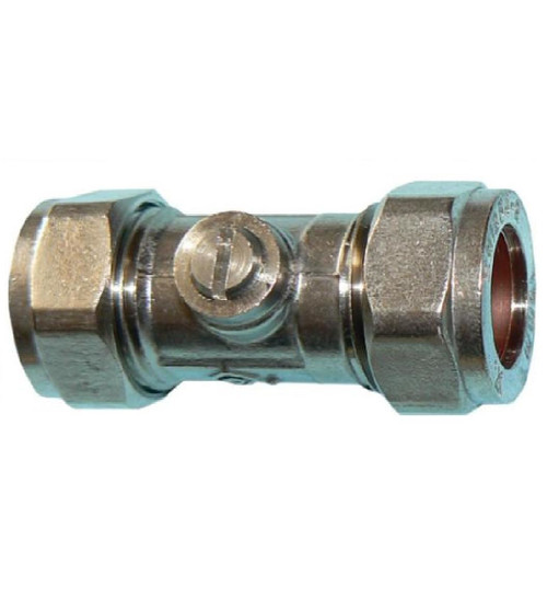 15mm Chrome Isolation Valve- Economy