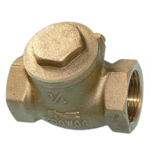"3/4"" Horizontal Swing Check Valve - Female Threads"
