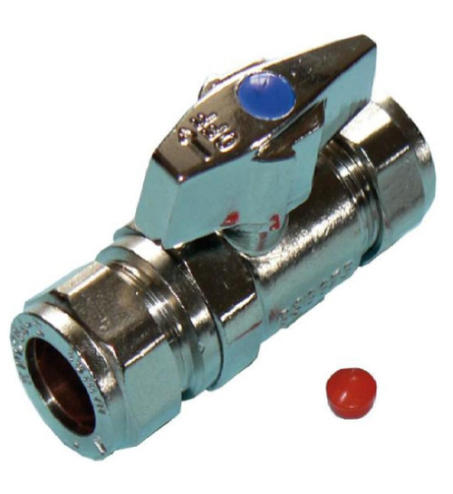 Large Bore 15mm Isolation Valve with Butterfly Handle