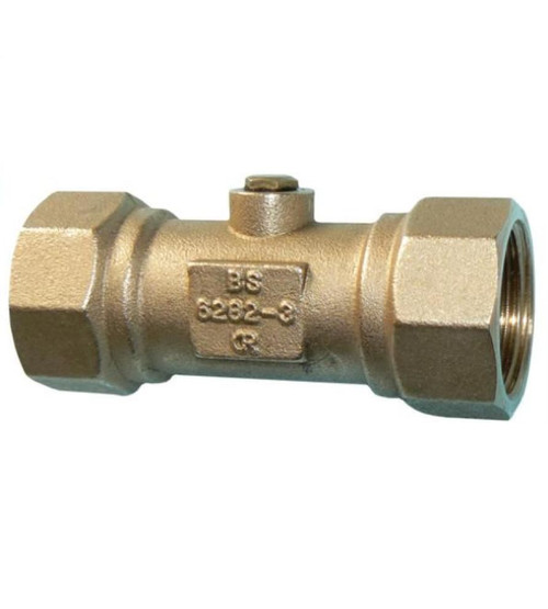 1 Inch BSP Double Check Valve made from DZR Brass