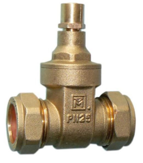 22mm DZR Lockshield Gate Valve