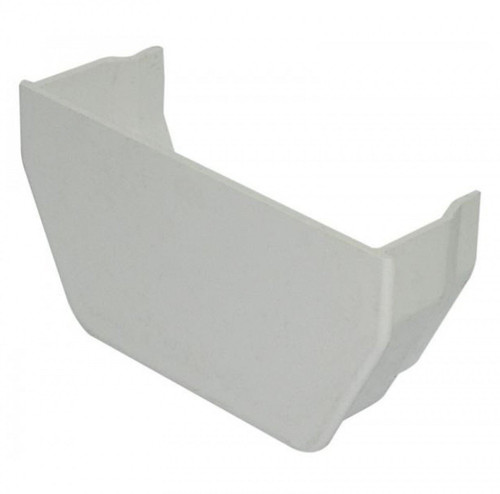 FLOPLAST 114mm Square Gutter Internal Stop End - White