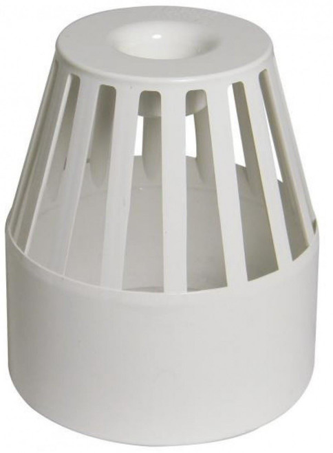 FLOPLAST 110mm Ring Seal Vent Terminal - White