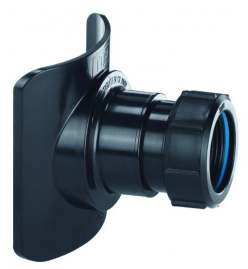 McAlpine BOSSCONN110T-BL 4 x 1.25 Inch Black Soil Pipe Boss Connector