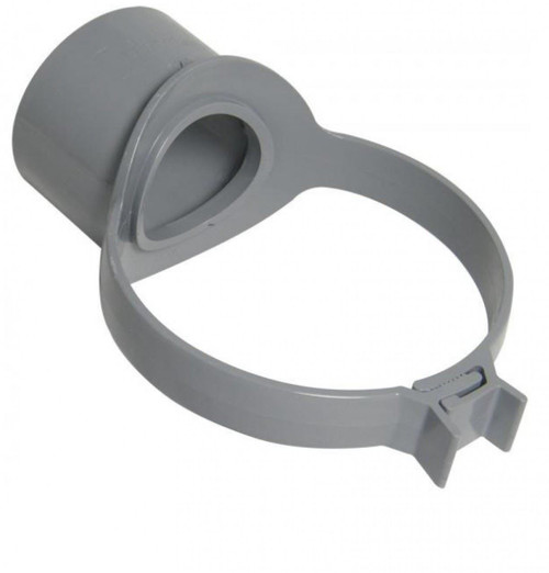 FLOPLAST 110mm Soil Ring Seal Strap Boss - Grey