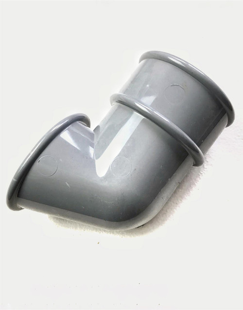 FLOPLAST 68mm Round Gutter Pipe Shoe - Grey