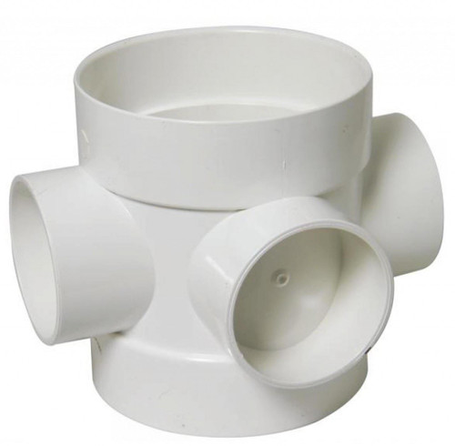 FLOPLAST 110mm Soil Ring Seal Short Boss Pipe - White