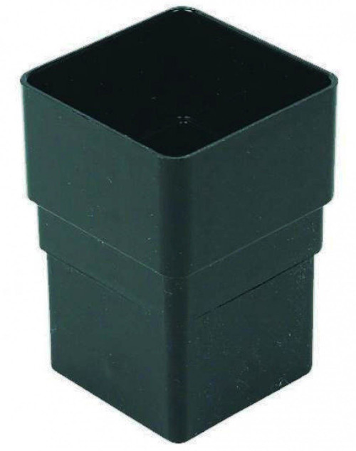 FLOPLAST 65mm Square Downpipe Socket - Black