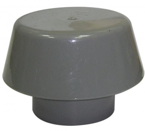 FLOPLAST 110mm Ring Seal Soil Extract Cowl - Grey