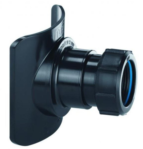 McAlpine BOSSCONN82-BL 3 x 1.25 Inch Black Soil Pipe Boss Connector