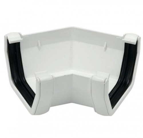 FLOPLAST 114mm Square Gutter135 Degree Angle - White