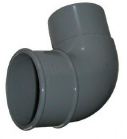 FLOPLAST 68mm Round Gutter Pipe 92.5 Degree Offset Bend - Grey