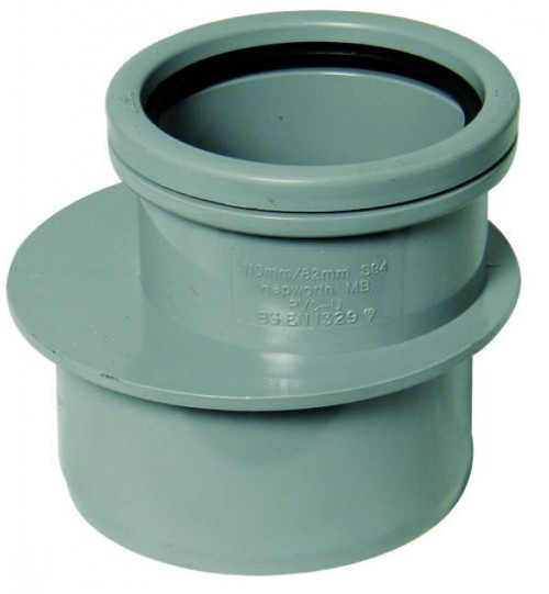 FLOPLAST 110mm Soil Pipe 110x82 Reducer - Grey