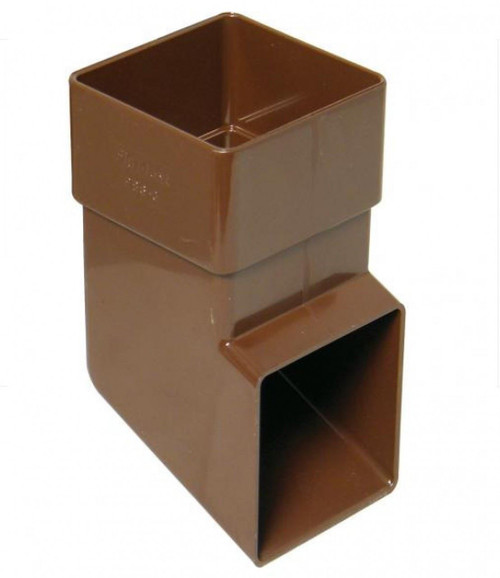 FLOPLAST 65mm Square Downpipe Shoe - Brown