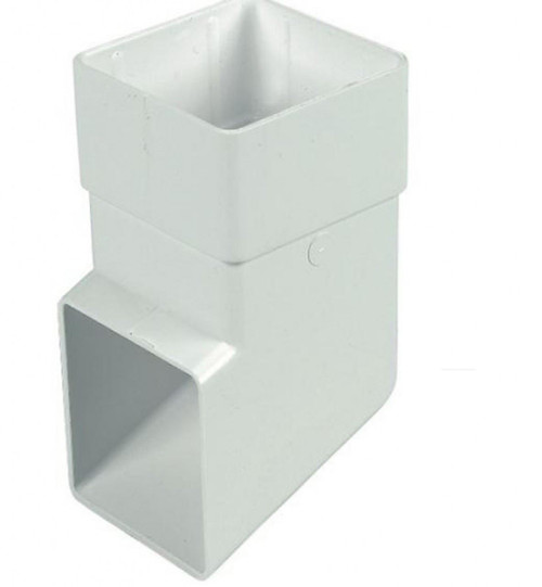 FLOPLAST 65mm Square Downipe Shoe - White