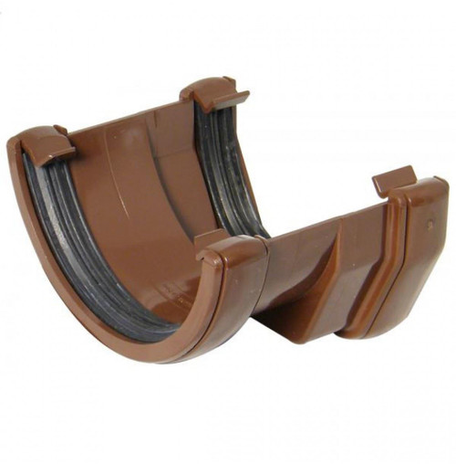 FLOPLAST 114mm Square to 112mm Round Gutter Adapter - Brown
