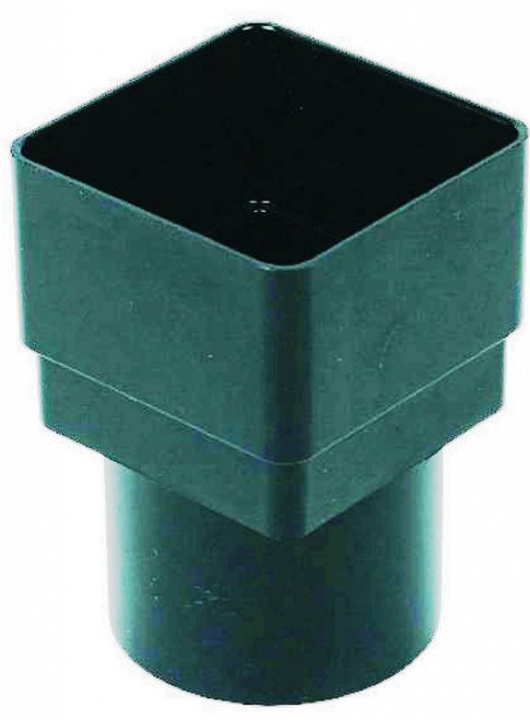FLOPLAST 65mm Square to 68mm Round Gutter Pipe Adapter - Black