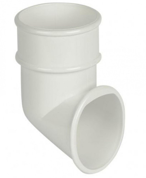 FLOPLAST 68mm Round Gutter Pipe Shoe - White