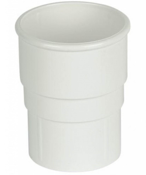 FLOPLAST 68mm Round Gutter Pipe Socket - White