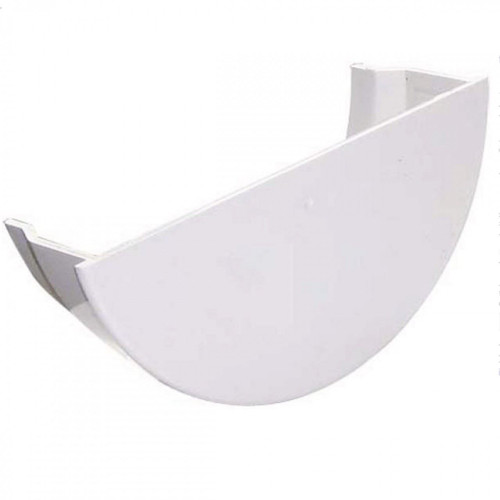 FLOPLAST 112mm Half Round Gutter Internal Stop End - White