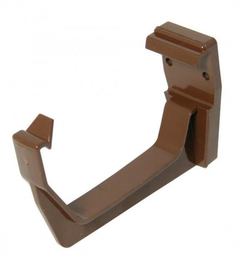FLOPLAST 114mm Square Fascia Gutter Bracket - Brown