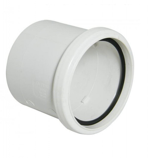FLOPLAST 110mm Ring Seal Soil Single Socket - White