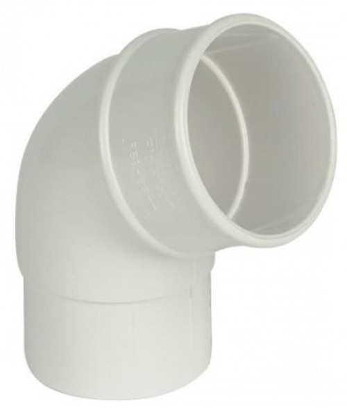 FLOPLAST 68mm Round Gutter Pipe 112 Degree Offset Bend - White