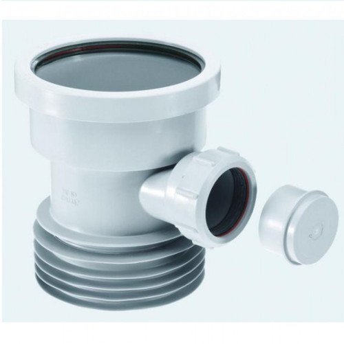 McAlpine Grey Drain Connector with Boss - BDC1GRBO