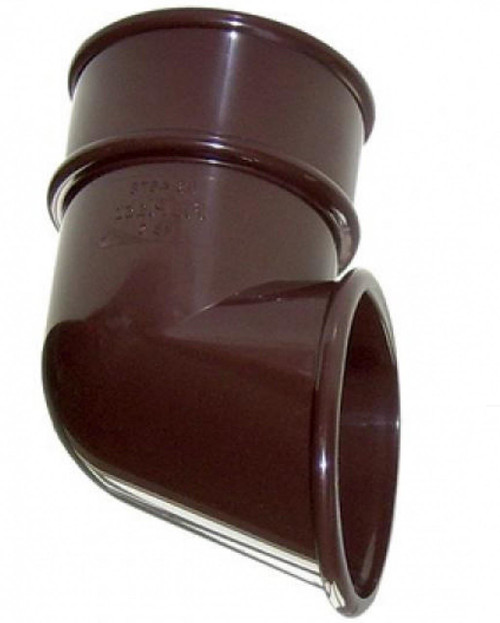 FLOPLAST 68mm Round Gutter Pipe Shoe - Brown