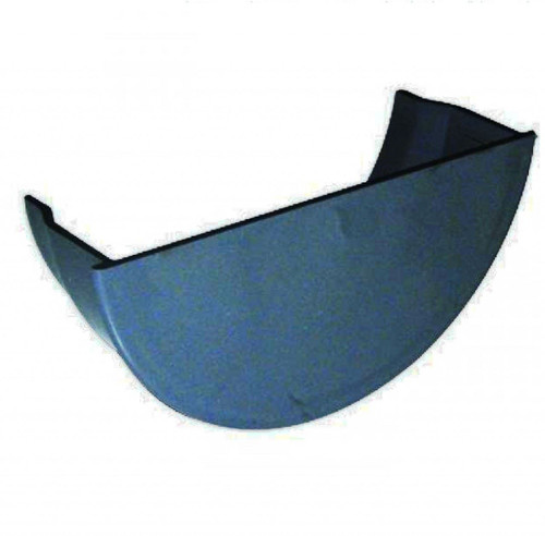 FLOPLAST 112mm Half Round Gutter Internal Stop End - Grey
