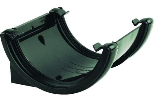 FLOPLAST 112mm Half Round Fascia Gutter Union Bracket - Black