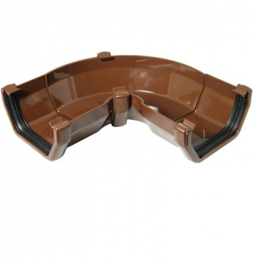 FLOPLAST 114mm Square Gutter Adjustable Angle - Brown