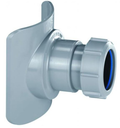 McAlpine BOSSCONN110T-GR 4 x 1.5 Inch Grey Soil Pipe Boss Connector