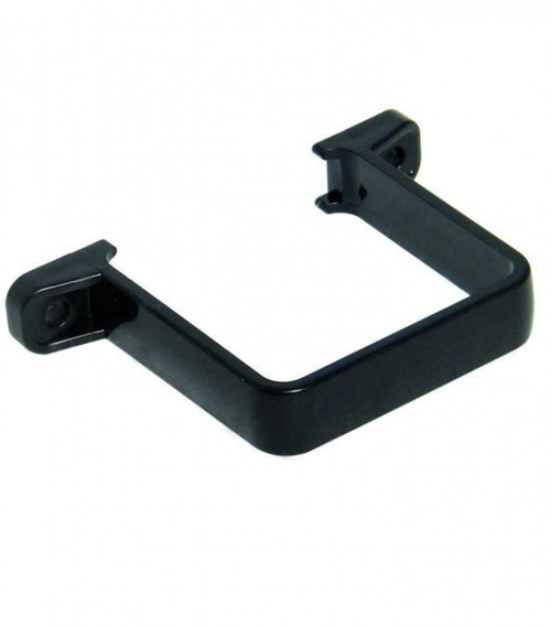 FLOPLAST 65mm Square Flush Down Pipe Clip - Black