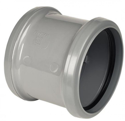 FLOPLAST 110mm Ring Seal Soil Double Socket - Grey