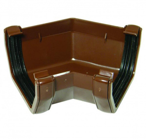 FLOPLAST 114mm Square Gutter135 Degree Angle - Brown