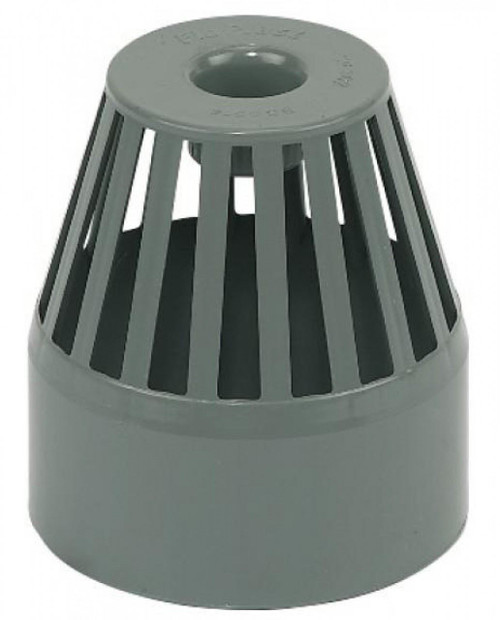FLOPLAST 110mm Ring Seal Vent Terminal - Grey
