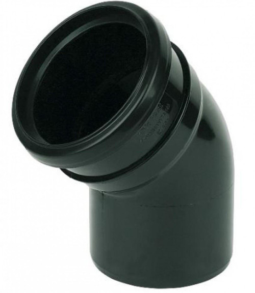 110mm Ring Seal Soil 135 Degree Socket to Spigot Bend- Black