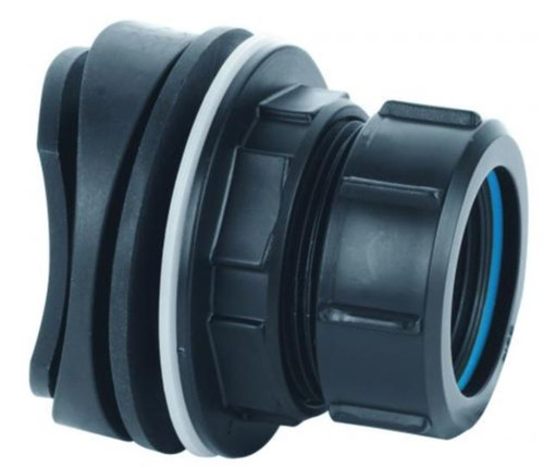 McAlpine BOSSCONN1.25BL Black Soil Pipe Boss Connector 1.25BL S&RW x 1.1/4 Inch Black