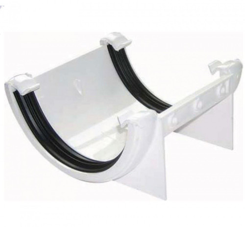 FLOPLAST 112mm Half Round Fascia Gutter Union Bracket - White