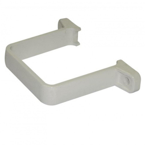 FLOPLAST 65mm Square Flush Down Pipe Clip - White