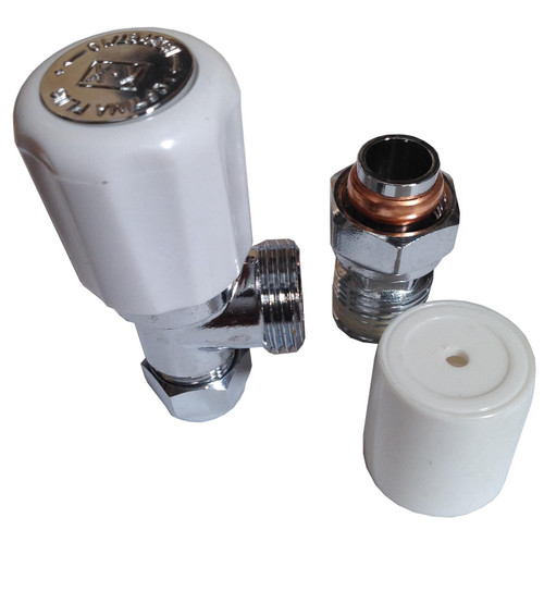 10mm Angle Radiator Valve - Optima Plus