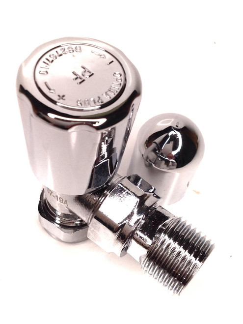 15mm Angle Chrome Radiator Valve