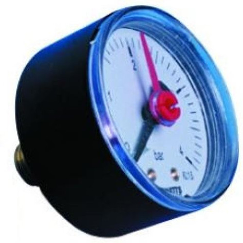 0-10 Bar Pressure Gauge - Back Connection