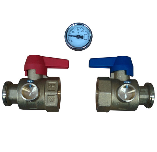 Polypipe 1 Inch Underfloor Heating Isolation Valves (pair) PB01732