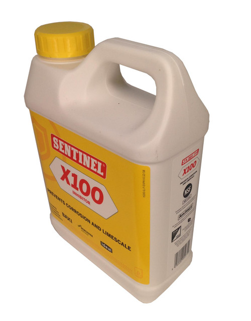 Sentinel X100 Central Heating Inhibitor - 1 Litre (100 Litres)