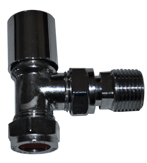 "15mm x 1/2"" Angle Chrome Radiator Valve - Genbra"