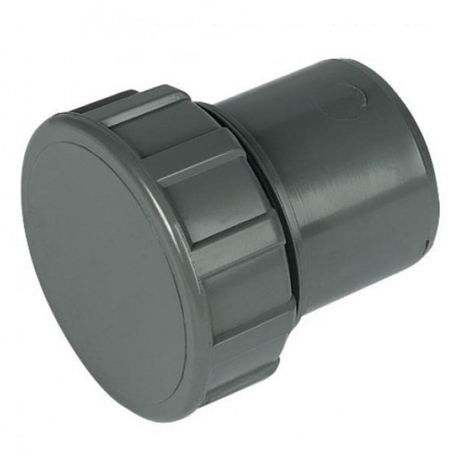 FLOPLAST ABS Solvent 50mm Waste Access Plug - Grey