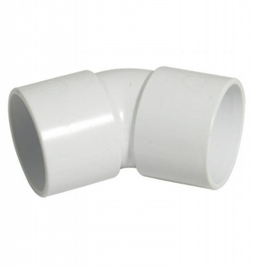 FLOPLAST ABS Solvent 135 Degree 50mm Waste Obt Bend - White