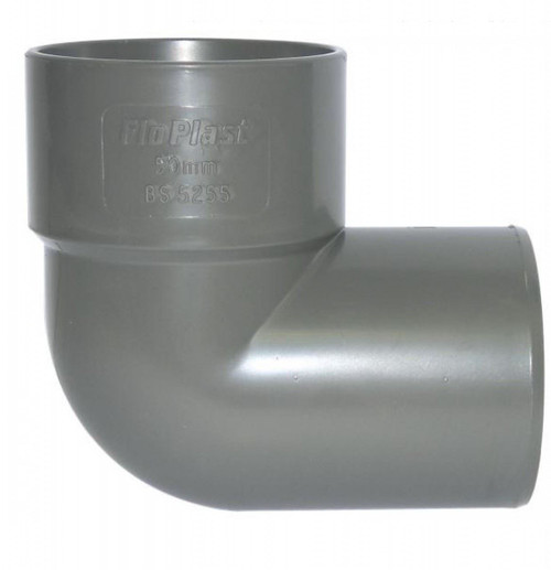 FLOPLAST ABS Solvent 90 Degree 40mm Waste Conversion Bend - Grey